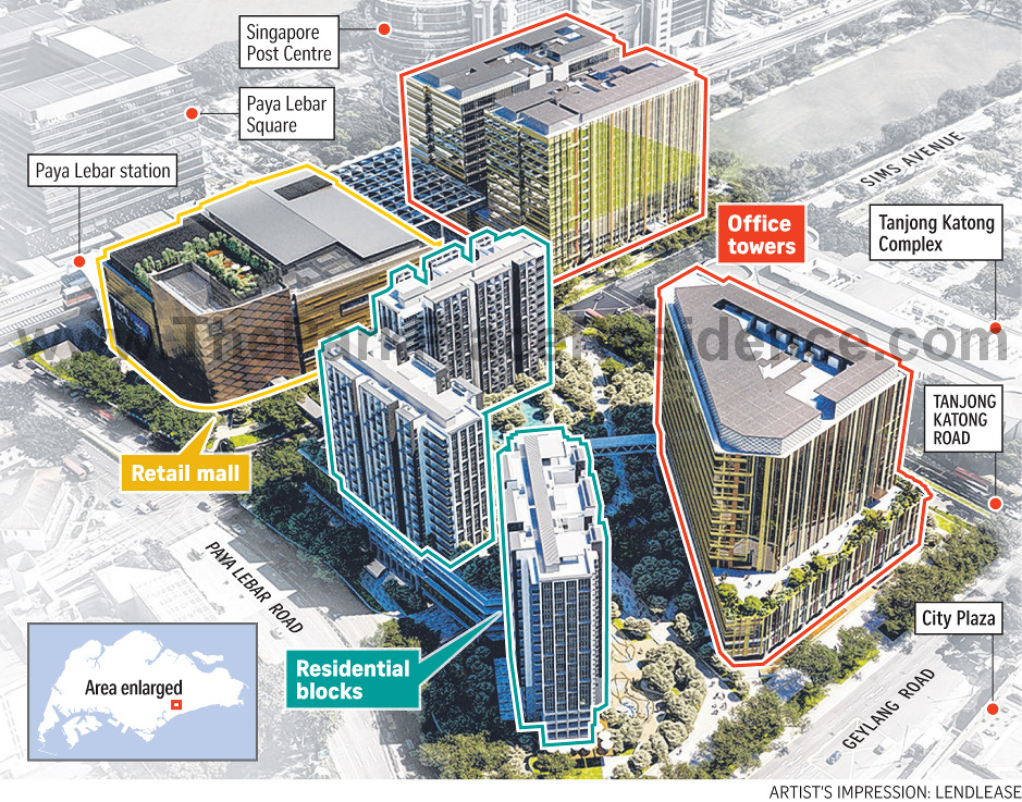 Park Place Residences Location at Paya Lebar Quarter (PLQ)